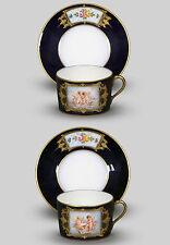 Sevres 2 große Tassen UT Puttendarstellungen sign. E.David v. 1846 in Schatulle