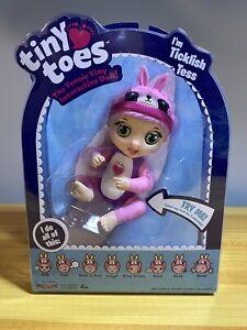 Tiny Toes Ticklish Tess Pink Bunny BNIB Free Shipping