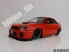 Maisto 1:24 custom shop Subaru Impreza WRX model sports car Red