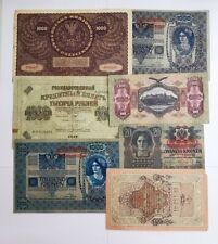 Lot 7 Billets Banque Pologne, Russie, Hongrie. Ref56744