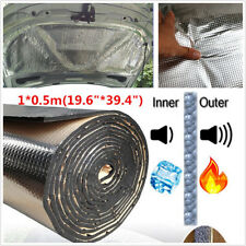 1m × 0.5m 10mm Car Cell Foam Sound Acoustic Heat Barrier Deadener Mat Aluminum