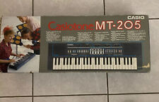 Casio Casiotone MT-205 Keyboard Electronic 80s In Box Tested Working Vintage