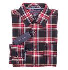 Tommy Hilfiger Premium Denim Men Long Sleeve Button Down Plaid Casual Shirt
