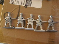 "Lot of 5 Vintage Lead Soldier Figurines 2 3/8"" LOOK"