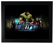1 Avengers Superhero Birthday Party Favors 8x11 inch Personalized Wall Print