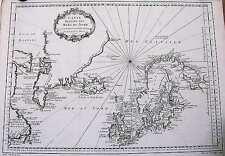 Antique map, Carte reduite des Mers du Nord