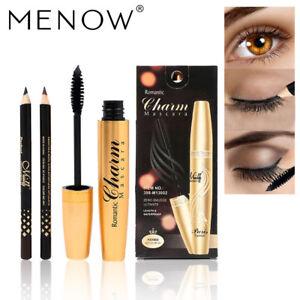 2 Eyeliner & Banana Oil Loose Powder & Rose BB Cream Makeup Sets & Thick Mascara