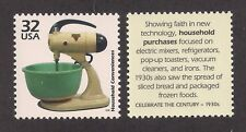 ANTIQUE 1930's SUNBEAM MIXER - GREEN BOWL - U.S. POSTAGE STAMP - MINT CONDITION