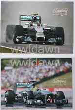 Nico Rosberg - 2 Autograph cards, collectors cards, pictures 2014 Mercedes Formula 1