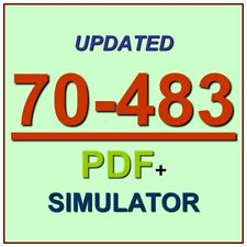 Latest 70-483 Verified Practice Test 483 Exam QA PDF+Simulator