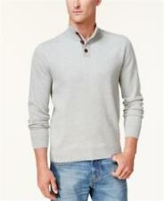 Tommy Hilfiger Textured Polo Sweater Grey Mens Small New