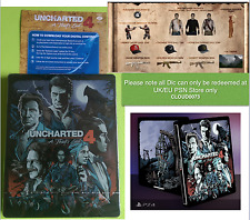 Uncharted 4 PS4 Limited Edition Steelbook GAME + Stickers + DLC(UK/EU) NEW!