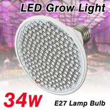 34w Full Spectrum LED Grow Light E27 Lamp Bulb for Hydro Plants Vegs Hydroponic
