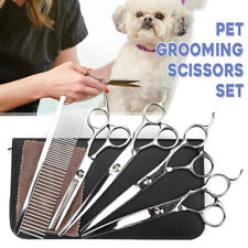 Professional Pet Dog Grooming Scissors Set Straight&Curved&Thinning Shears Kit