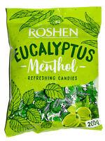 Ukrainian Sweets ROSHEN Hard Candies Mix Caramel Eucalyptus-Menthol 200g / 7 oz