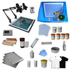 4 Color Screen Printing Materials Kit Full Set Press Ink Coater Squeegee Mesh