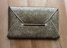 Elegante Damen Clutch Abendtasche Pailletten gold gritzer glitter Brauttasche