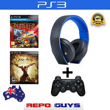Genuine Sony PlayStation Wireless Headset +  PS3 Controller + 2 PS3 Games