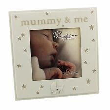 "Bambino Baby Photo Frame 4"" x 4"" ""Mummy & Me""  ideal gift"