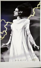 BRIDE Of FRANKENSTEIN Print HAND SIGNED by Artist Damon Bowie w COA Monsters