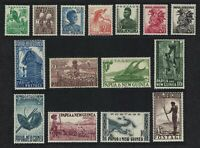 Papua NG Birds First Definitives Issue 15v Mix 1952 * MH SG#1-15 SC#122-136