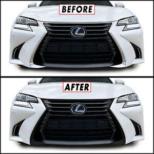Chrome Delete Blackout Overlay for 2016-20 Lexus GS Front Bumper Grill Trim