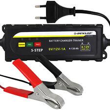 Dunlop Batterieladegerät KFZ PKW Auto Ladegerät Autobatterie Blei Gel AGM 6V 12V
