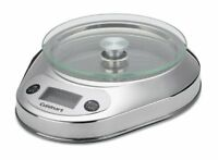 Cuisinart Digital LCD Kitchen Food Scale Stainless Steel Bowl Precision Chef