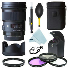 Sigma 50mm f/1.4 DG HSM Art Lens for Canon Cameras + Filter Kit + Accessory kit