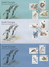 ANTARCTIC SOUTH GEORGIA + SANDWICH Is 1999 BIRDS SET FIRST DAY COVERS 12 stamps