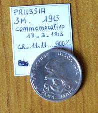 MONETA PRUSSIA 5 MARK 1913 COMMEMORATIVA ARGENTO 900 gr 11,11 RARO SUBALPINA