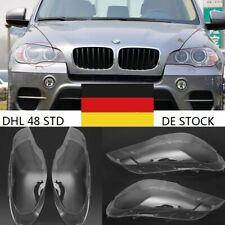 Links + Rechts Scheinwerferglas BMW X5 E70 06-13 Linsen Streuscheiben Abdeckung