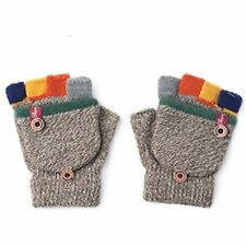 Winter Warm Student Writing Gloves Baby Children Knitted Mittens, 3-6 Years Old