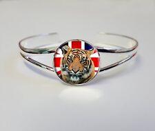 TIGER Union Jack Plaqué Argent Bijoux Bracelet Bangle cadeau d'anniversaire L284