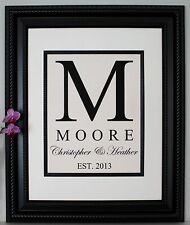 Personalized Linen Print, Wedding Gift, Anniversary Gift, Engagement Gift