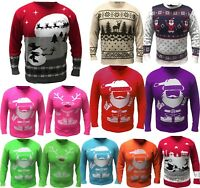 Christmas Jumper Mens Womens Xmas Novelty Vintage Unisex All Sizes x-mas