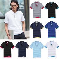 Herren Poloshirt Kurzarmshirt Polohemd T-Shirt Geschäft Poloshirt Freizeithemd