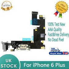 For iPhone 6 Plus Dock Charging Port Headphone Jack Flex Replacement Black