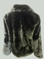 Portmans Forever Young Faux Fur Jacket Black Size 14 rrp $179.95 BRAND NEW