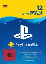 Playstation Plus, 12 Monate, Deutsches Konto, PS4 Code