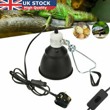 Reptile VIvarium Ceramic Heat Lamp Light Dome Holder Turtle Brooder Basking UK