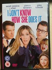 Sarah Jessica Parker Piece Brosnan I DON'T KNOW HOW SHE DOES IT ~ 2011 UK DVD