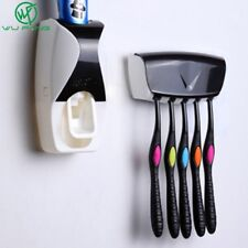 1 Set 5 Colors Automatic Toothpaste Dispenser Set 5 Toothbrush Holder Wall Mount