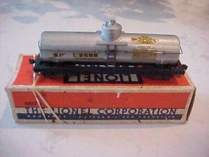 LIONEL ELECTRIC TRAINS SUNOCO OIL PRE WAR SINGLE DOME TANKER OO GAUGE w/ BOX