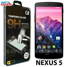 100% GENUINE TEMPERED GLASS SCREEN PROTECTOR FILM COVER FOR LG GOOGLE NEXUS 5