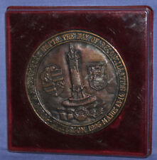 1995 Hungarian Dorog coat of arm bronze medal with box
