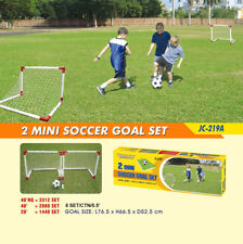Set of 2 Mini Soccer Goals 76.5 x 66.5cm w/ Nets & Pins & Ball & Inflating Pump