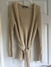 Peruvian Connection Cream hooded knitted cardigan 80% Alpaca WoolXS