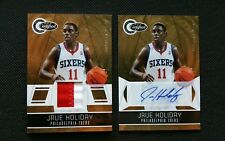 JRUE HOLIDAY 2010-11 TOTALLY CERTIFIED GOLD AUTO PATCH JERSEY LOT (2)! #/25! SP!