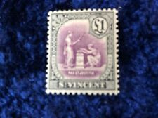St Lucia - £1 Green & Violet Definitive - MNH - Unmounted Mint SG 141